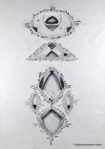 Drawings On Tyvek 2016, 50x70cm, 19,5x27,5in