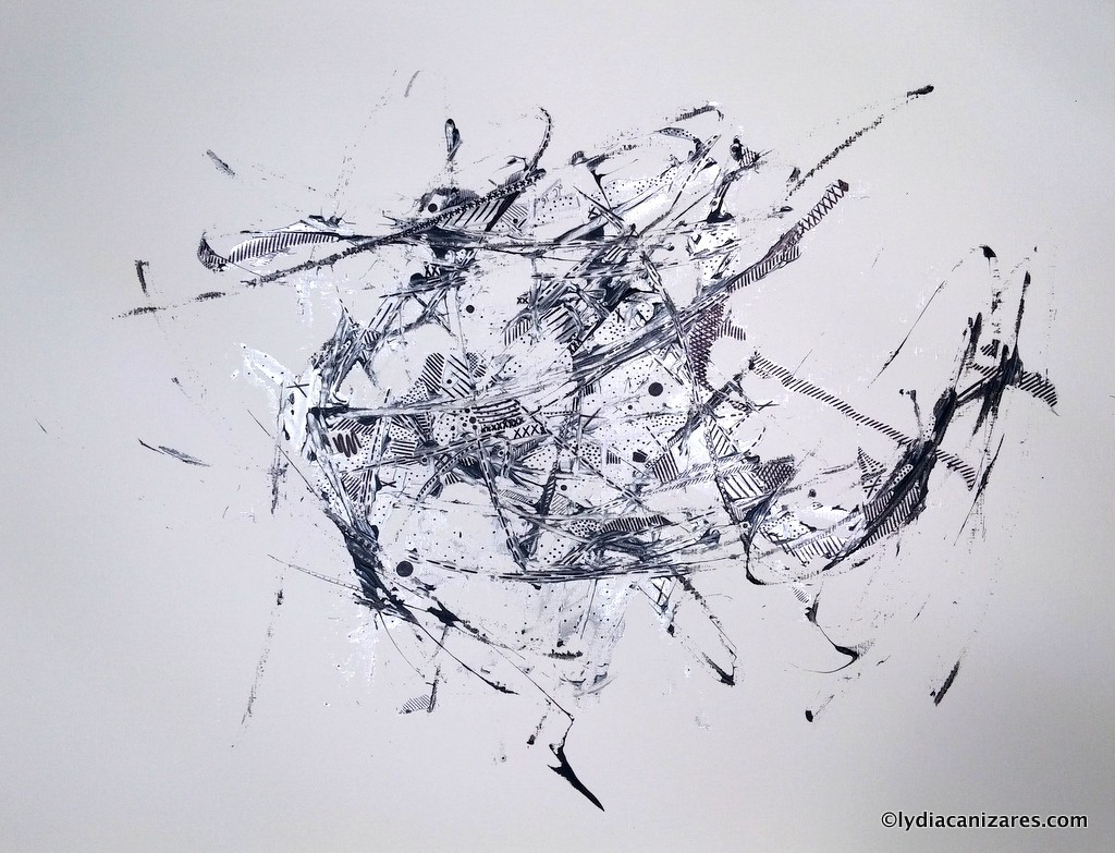 Permanent Ink and Acrylic on Paper 2015, 50x65cm, 19x25in